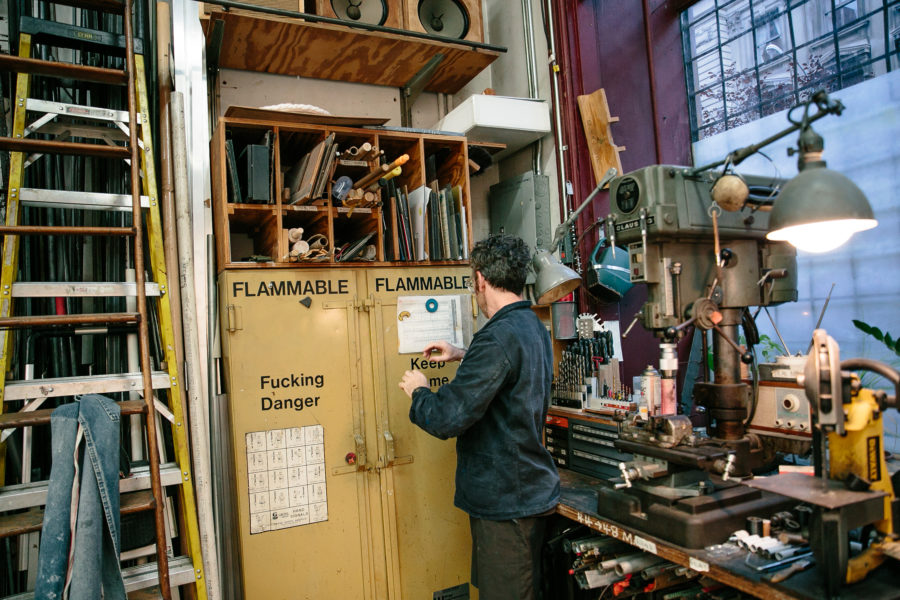 Inside Tom Sachs' Studio