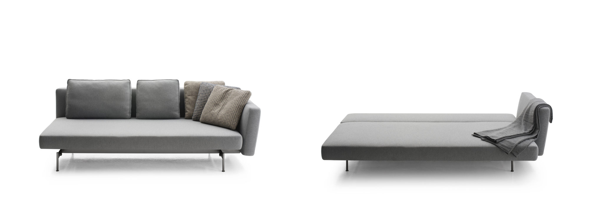 For Piero Lissoniu0027s Inaugural Collaboration With Bu0026B Italia, He Designed  The Saké Sofa Bed With Equally Comfortable Seating And Sleeping In Mind.