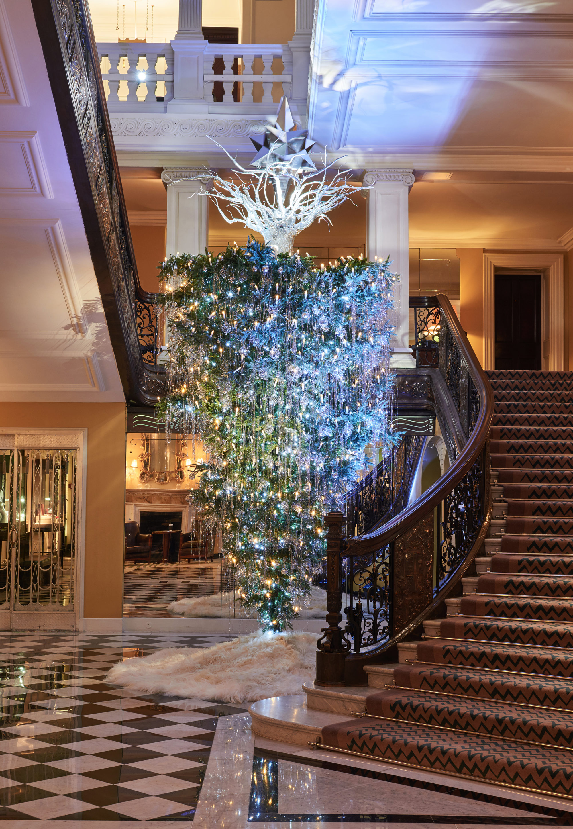 photo courtesy claridges - Designer Christmas Decorations