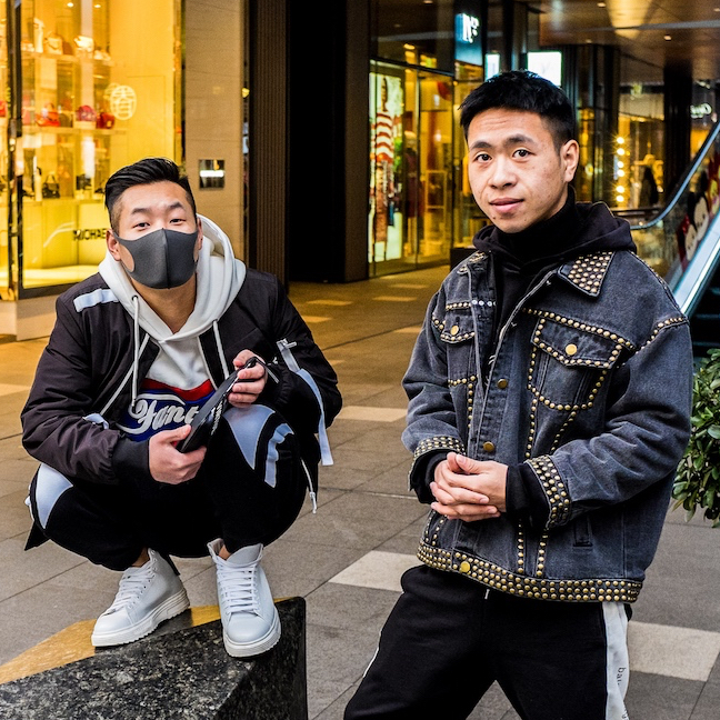 Two fashionable chinese boys