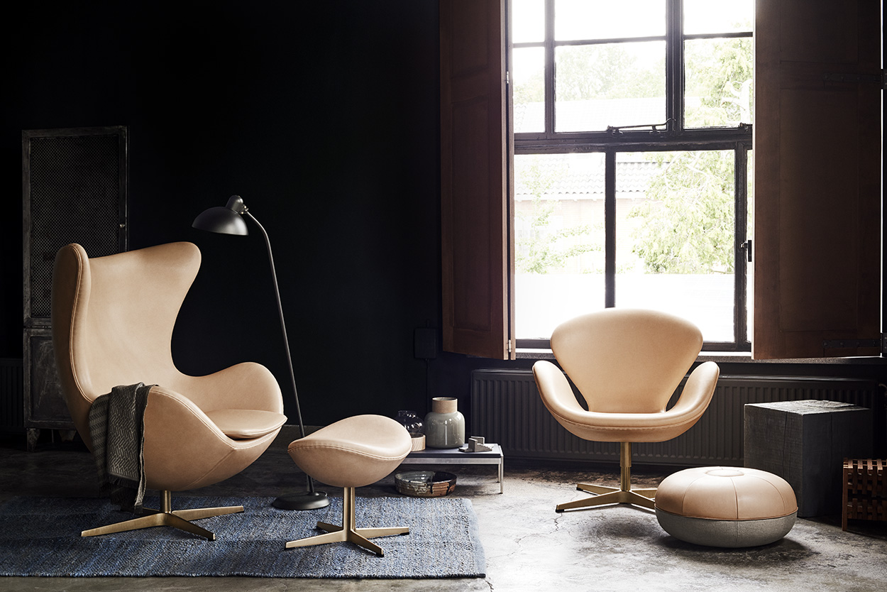 The Swan And Egg Chairs From Fritz Hansenu0027s 60th Anniversary Collection.