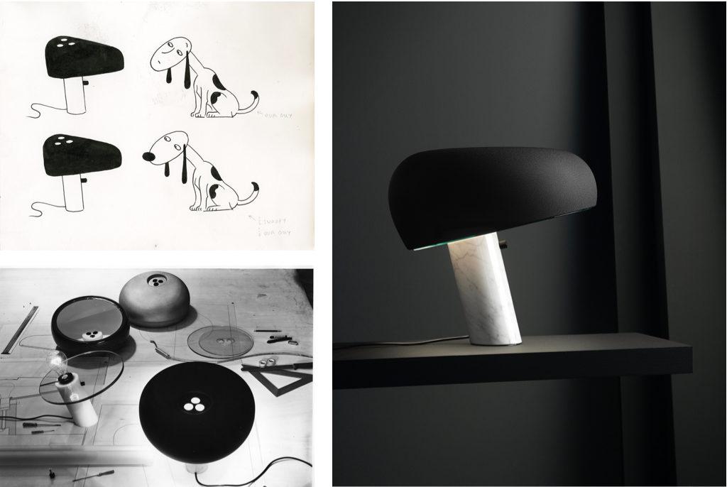 Design Achille Castiglioni.Achille And Pier Giacomo Castiglioni S Snoopy Lamp Turns 50