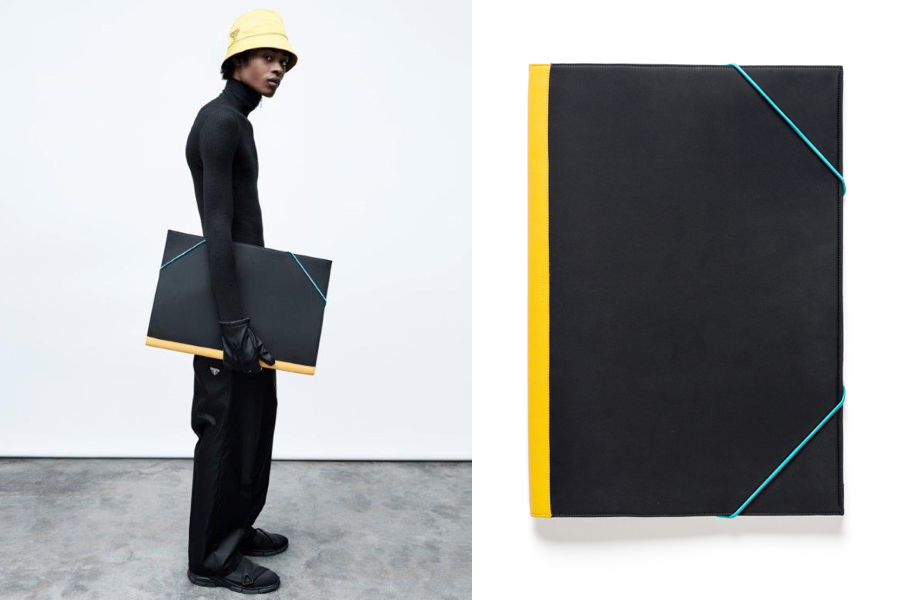 e22c9920327a26 Ronan and Erwan Bouroullec's shoulder bag takes inspiration from portfolio  cases, designed with strict geometry to contrast with its users' movements.