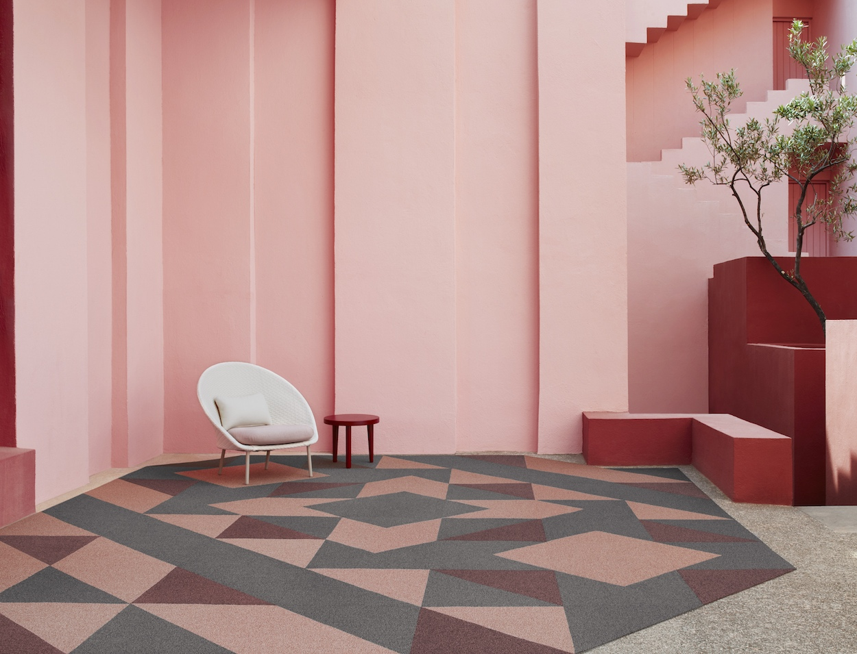 That S The Concept Behind Inside Shapes A New Collection Of Geometric Carpet Tiles By Swedish Design Studio Form Us With Love For Shaw Contract