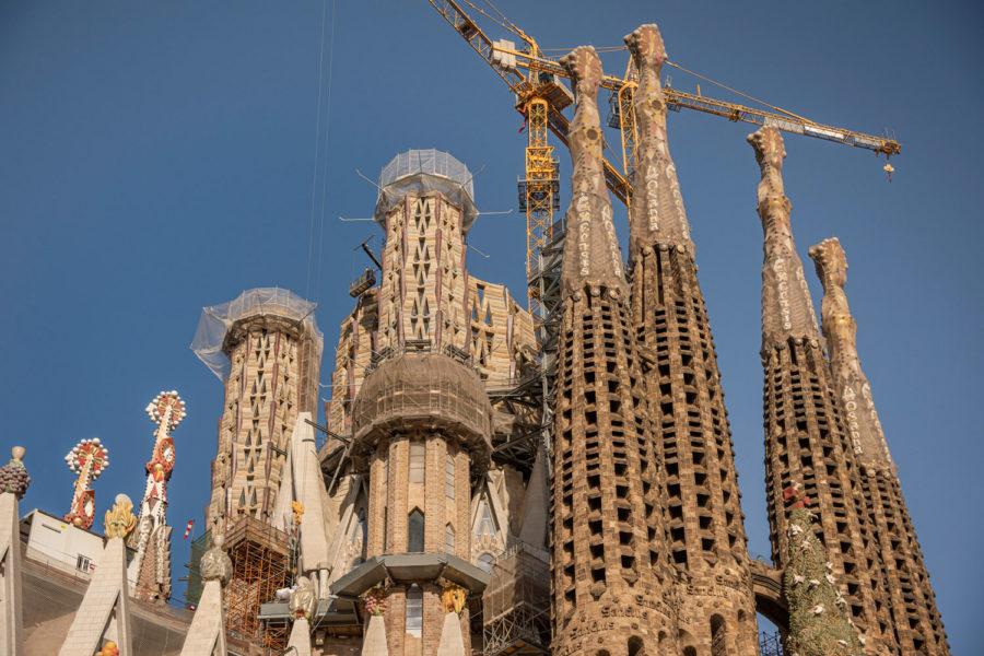 Sagrada Famíla Under Construction